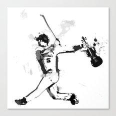 Baseball Violin Canvas Print