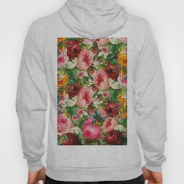 Colorful Floral Pattern | Je t'aime encore Hoody