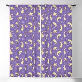 Relaxolotl - Lilac Blackout Curtain