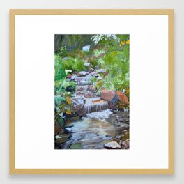 Bubbly Stream Framed Art Print