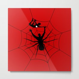 Man a spider Metal Print