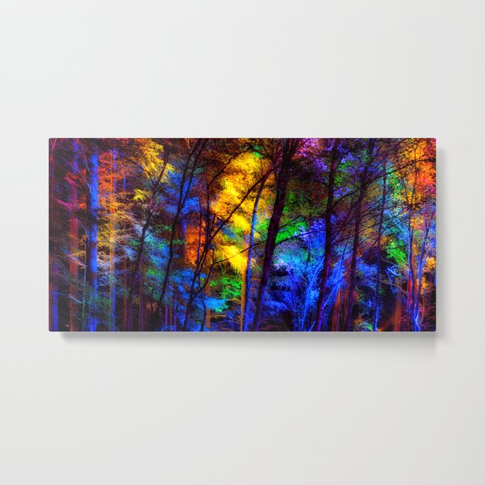 Rainbow Enchanted Forest Metal Print