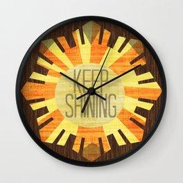 Baby Keep Shining Wall Clock