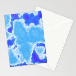 powder blue and indigo sky Stationery Cards