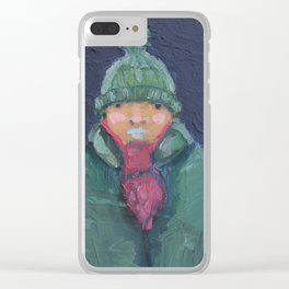 C-c-c-cold Clear iPhone Case