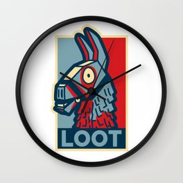 Loot Llama Hope Wall Clock