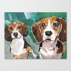 Joy and Luna Canvas Print