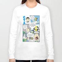 gta Long Sleeve T-shirts featuring GTA - Comic strip by Azlee Mahat