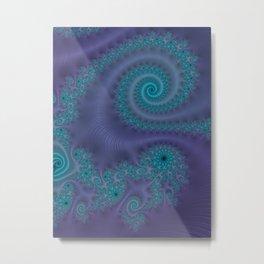 Purple Puffy Paint - Fractal Art Metal Print