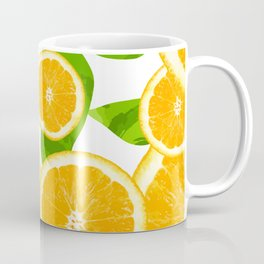 orange pattern Coffee Mug