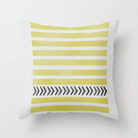 STRIPES AND ARROWS Throw Pillow