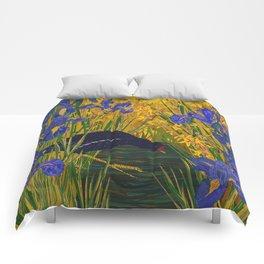 Iris and Moorhen Comforters