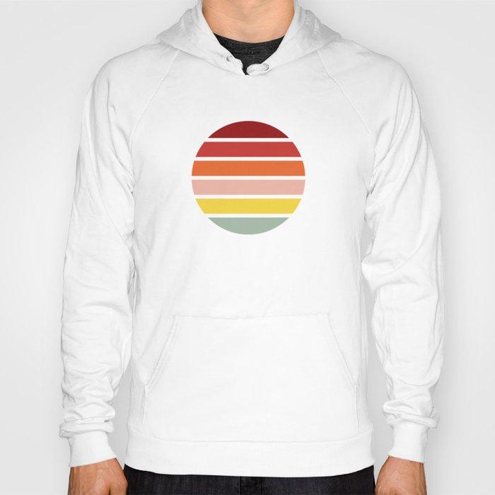 Retro Color Striped Circle Design - Edagiku Hoody