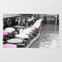 A Lovely Brunch By The River Pink Rug
