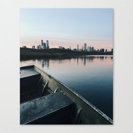 Dusk at Chicago's Northerly Island Canvas Print