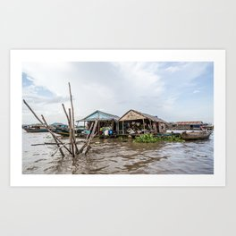 Chong Khneas Floating Village X, Siem Reap, Cambodia Art Print