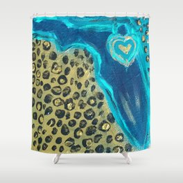 Florida Teal Love Shower Curtain