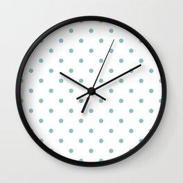 Chalky Blue Small Polka Dots Wall Clock