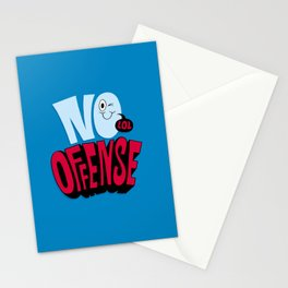 No Offense Stationery Cards