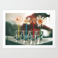vodka Art Prints featuring Vodka Flowers by Paulushaus