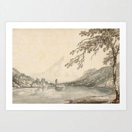 On the Aar between Unterseen and Lake of Brienz - 1797 Art Print