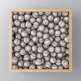 Baseballs Framed Mini Art Print