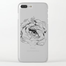 the eye in the flower Clear iPhone Case