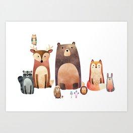 forest friends Kunstdrucke