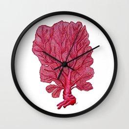Venus red sea fan coral Wall Clock