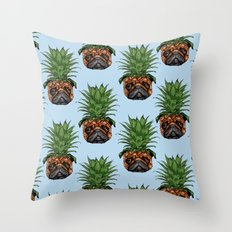 Pineapple Pug Throw Pillow