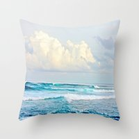 skyrim Throw Pillows featuring Water by Whimsy Romance & Fun
