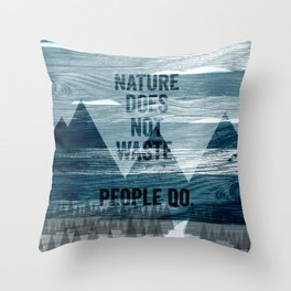 waste Throw Pillow
