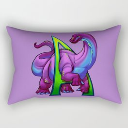 A is for Apatosaurus Rectangular Pillow