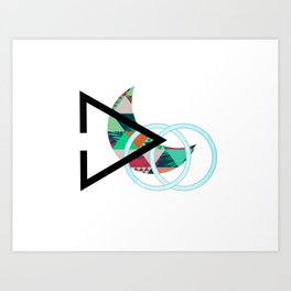 Over The Hills Geometric Design Art Print