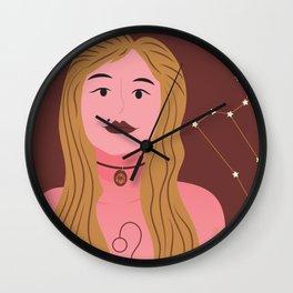 Leo Zodiac Woman Wall Clock