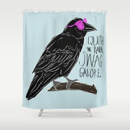 Quoth the Raven Shower Curtain