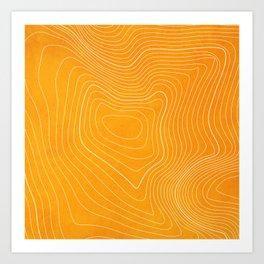 Pikes Peak Topography Art Print