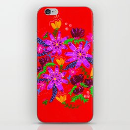 Orange Violets iPhone Skin