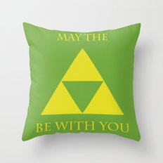 May the triforce be with you Throw Pillow