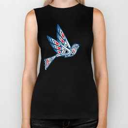 Hummingbird Pacific Northwest Native American Indian Style Art Biker Tank