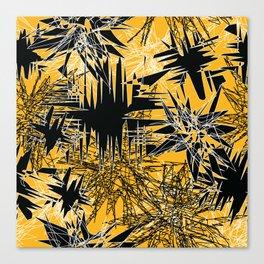 Yellow Chaos Canvas Print