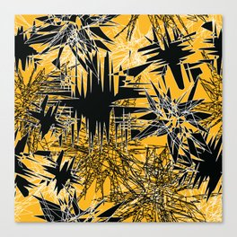 Yellow Chaos Canvas Print
