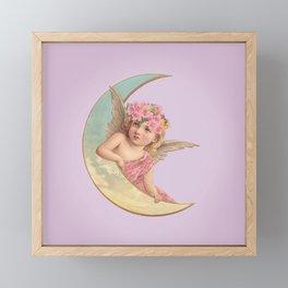 Victorian Moon Angel Framed Mini Art Print