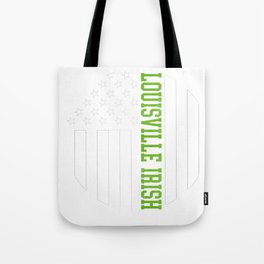 Louisville Irish graphics by Howdy Swag design Tote Bag