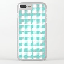 Turquoise Vichy Clear iPhone Case