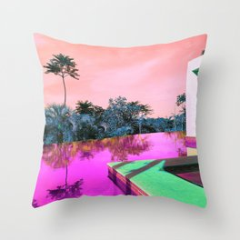 Pool Weekend Throw Pillow