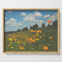 Dreaming in a Summer Field Serving Tray