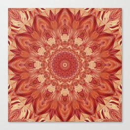Mandala Flower red Canvas Print