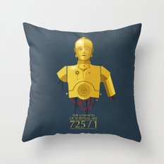 Never Tell Me The Odds (C3P0) Throw Pillow