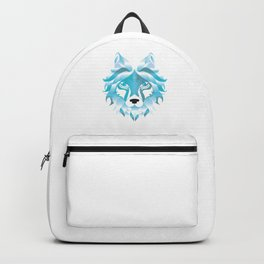 Silver Snow Wolf Art Wolves Pack Alpha Canidae Animals Gift Backpack
